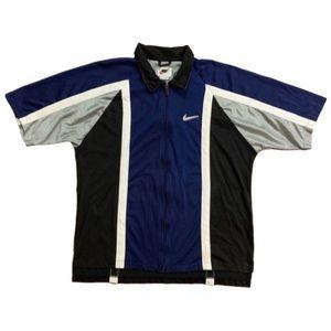 VTG Nike Short Sleeve Warm Up Track Jacket XL